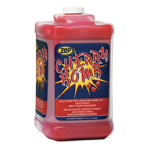 Cherry Bomb Hand Cleaner, Cherry Scent, 1 Gal Bottle, 4-carton