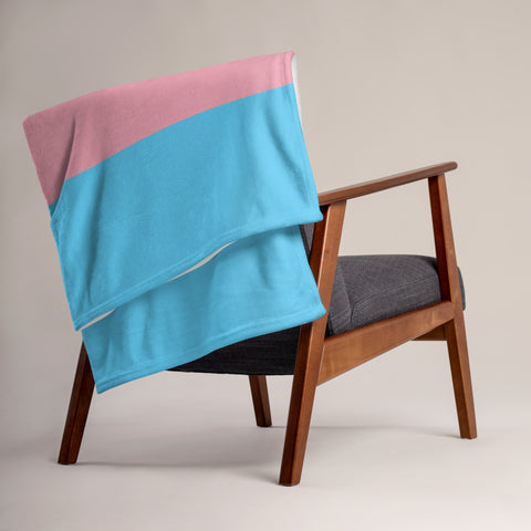 Trans Pride Throw Blanket