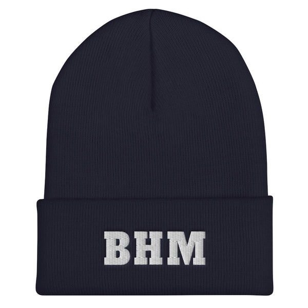 BHM Embroidered Cuffed Beanie