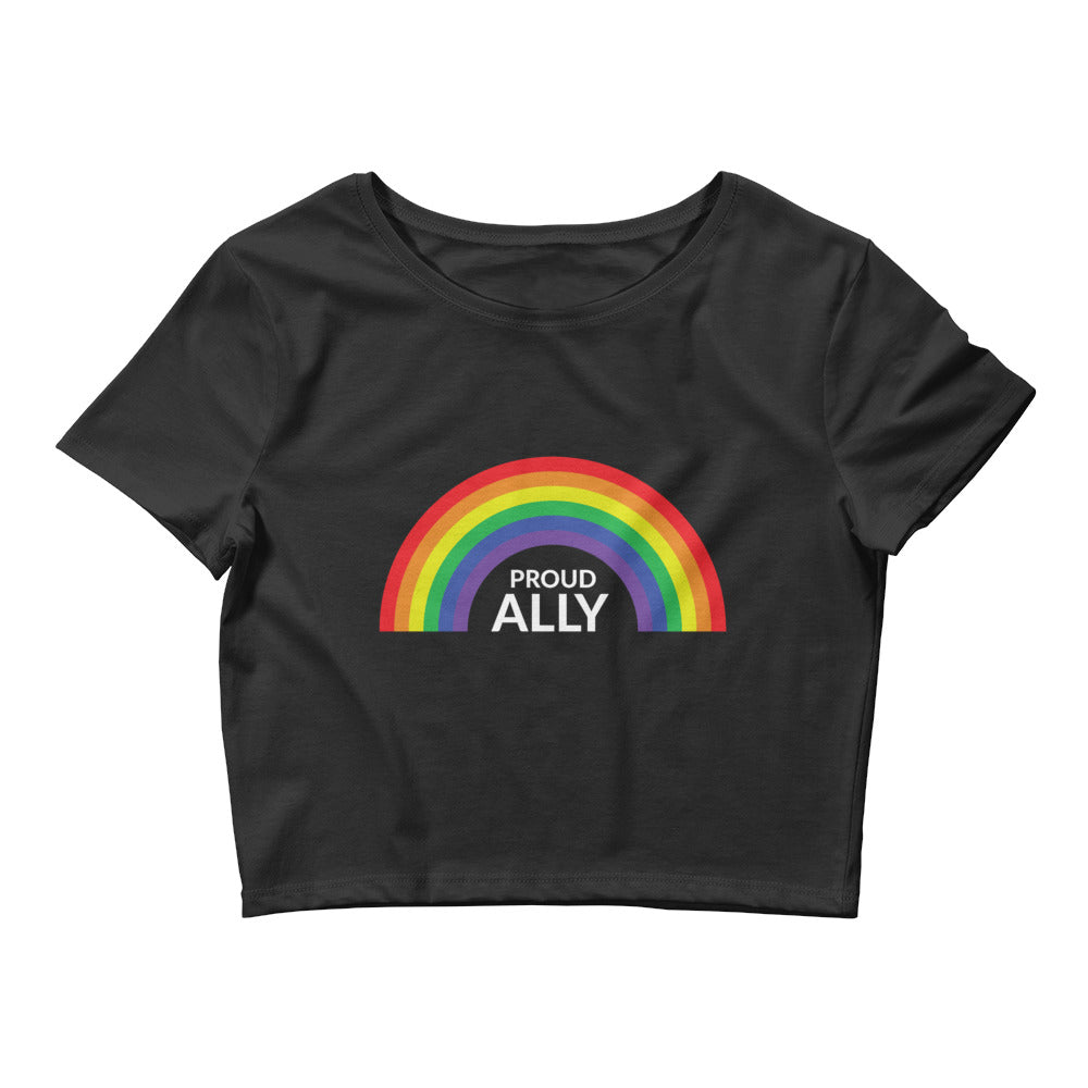 PROUD ALLY Women's Crop Tee