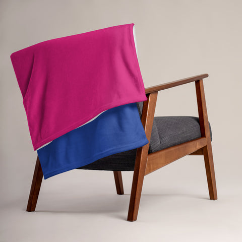 Bisexual Pride Throw Blanket