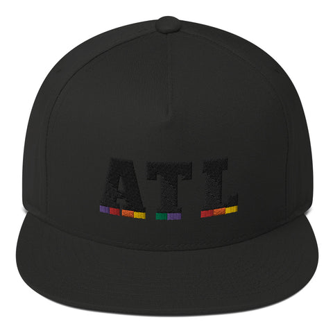 ATL Black on Black Flat Bill Cap