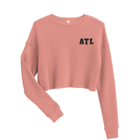 ATL Crop Sweatshirt - Pride color blocking underneath ATL