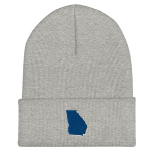 Georgia blue Cuffed Beanie