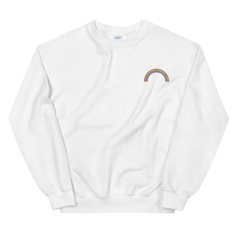 Rainbow Embroidered Unisex Sweatshirt