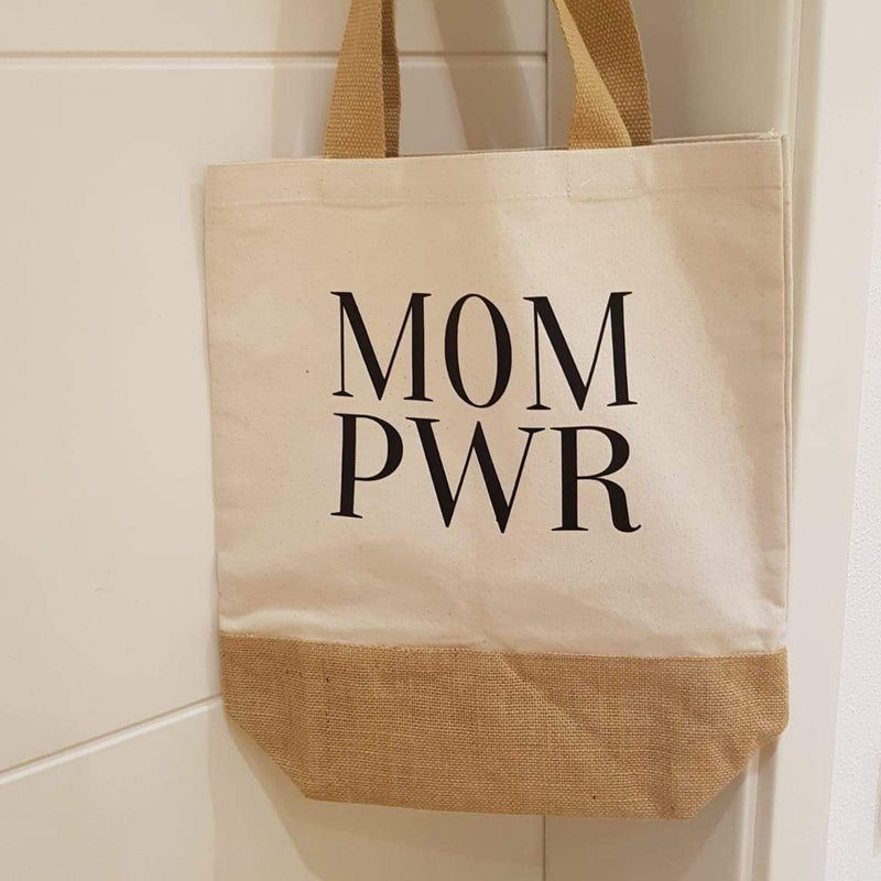 Jute Baumwoll-Shopper - MOM PWR -