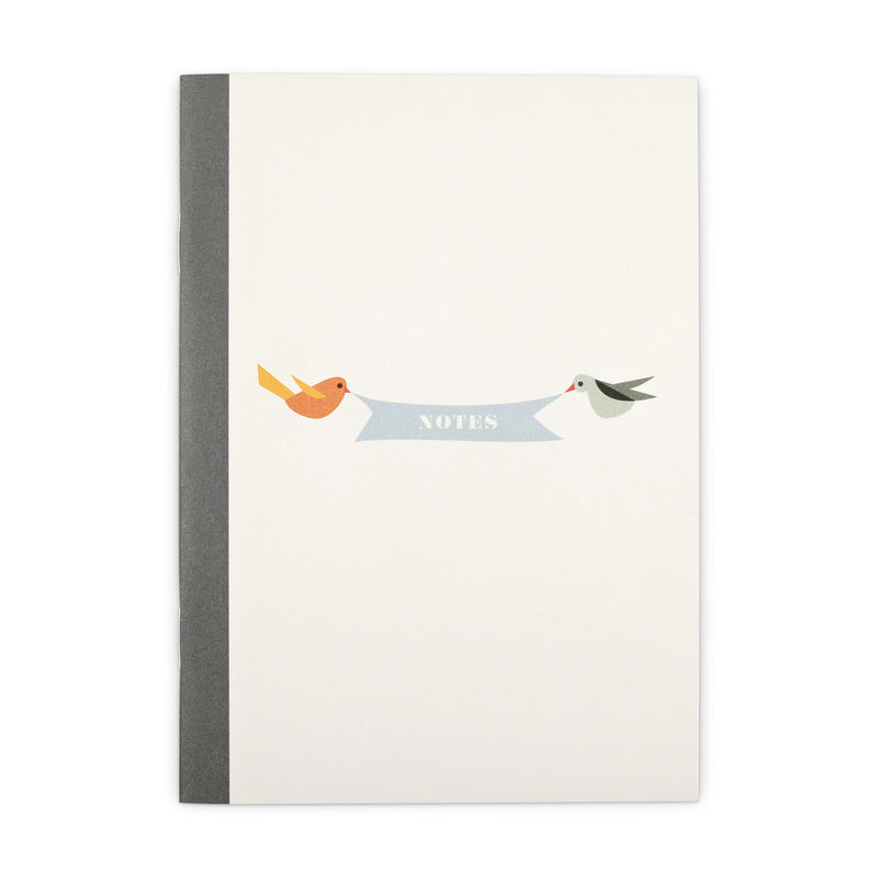 Notizbuch - Flying Birds A6 -blanko