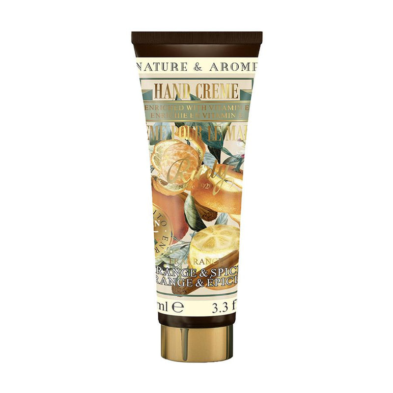 Nature & Arome Hand Cream enriched w/ Vitamin E (Apothecary) - Orange & Spice
