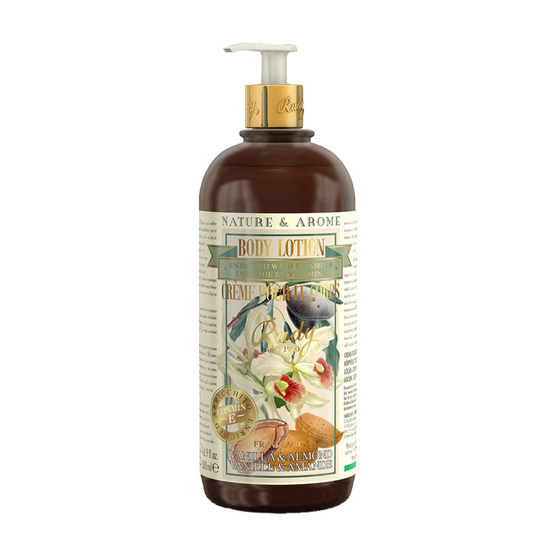 Nature & Arome Body Lotion enriched w/ Vitamin E (Apothecary) - Vanilla & Almond Oil