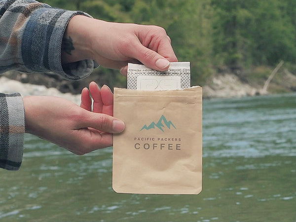 Place the coffee filter back to its compostable packaging. Time to hit the trails! Best coffee for backpacking adventures in Canada.