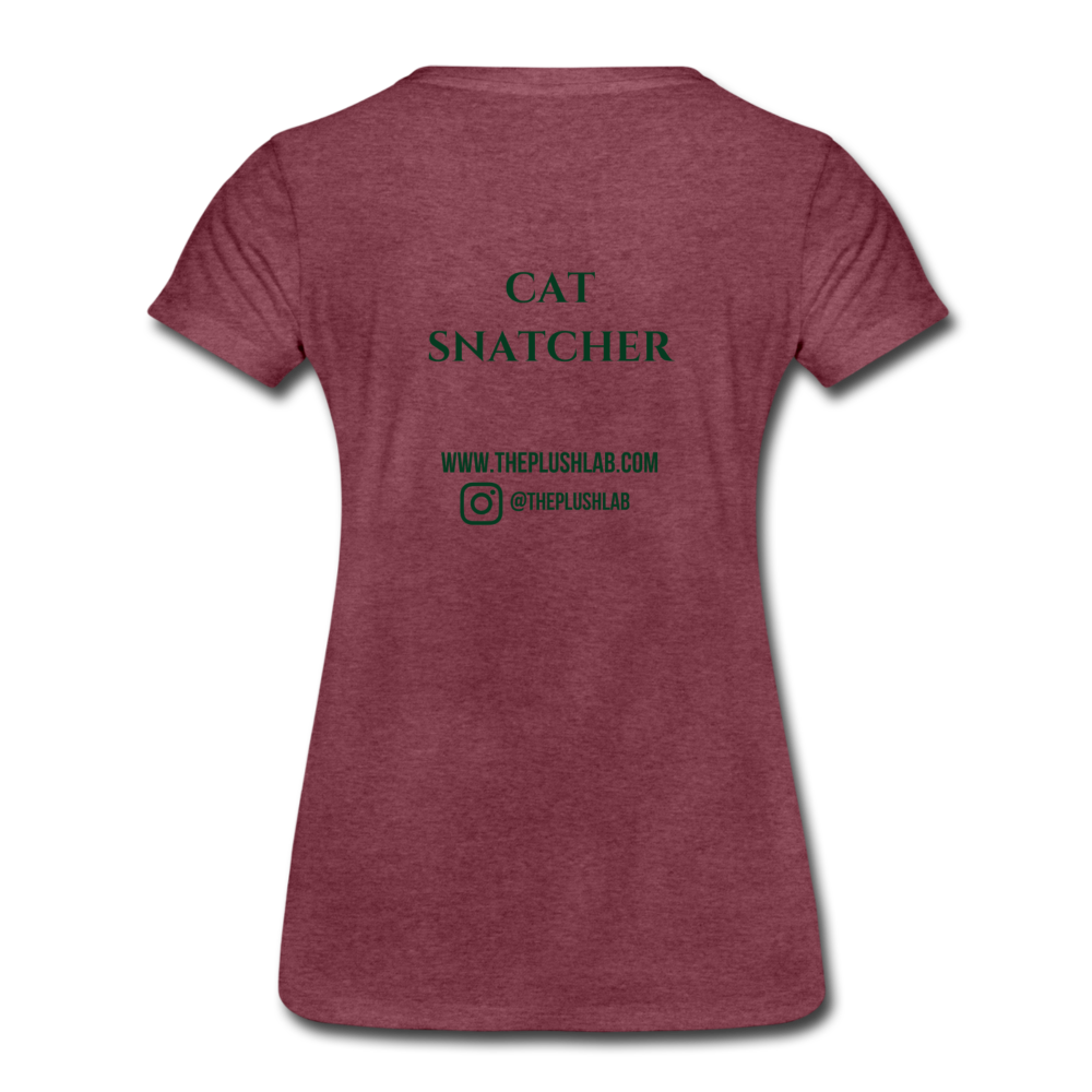 Cat Snatcher - heather burgundy