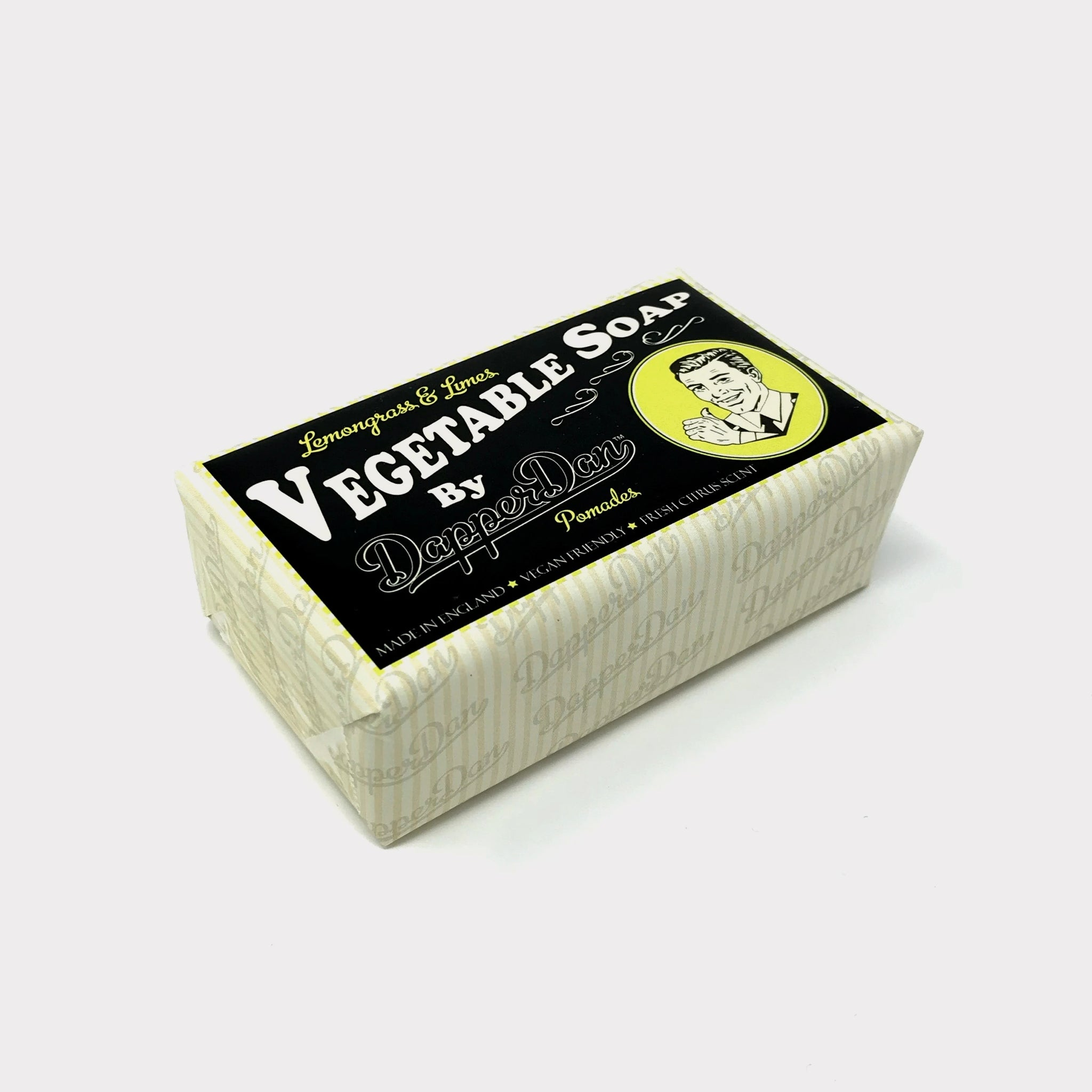 Dapper Dan Lemongrass & Limes Vegetable Soap 190g