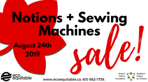 Notions and Sewing Machine Sale