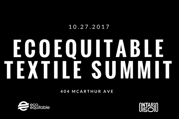 EcoEquitable Textile Summit ONLY 2 DAYS LEFT!