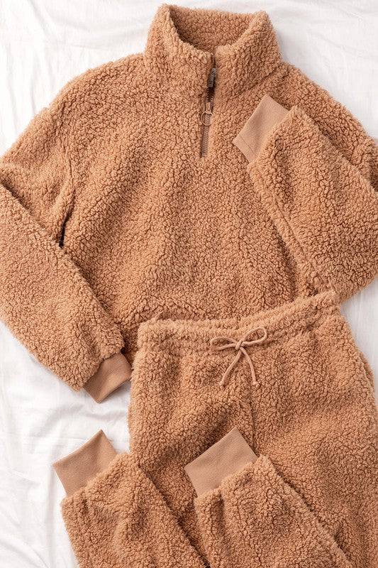 Cuddle Me Sherpa Lounge Set