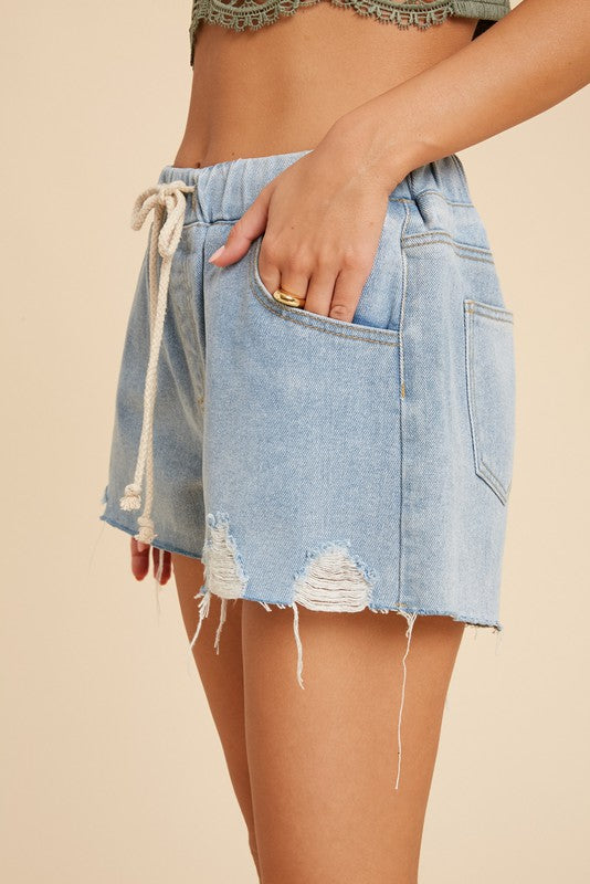 Sophie Pull-On Denim Shorts