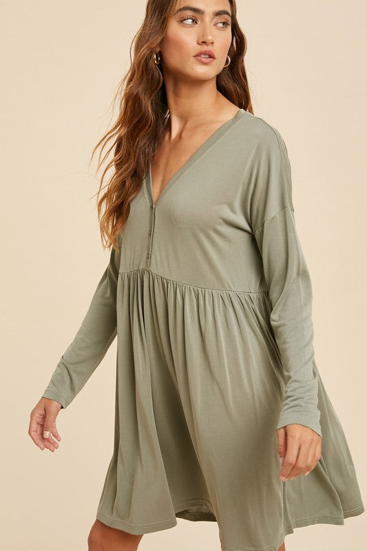 Logan Henley Babydoll Dress