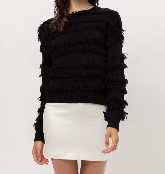 Sheena Fringe Sweater