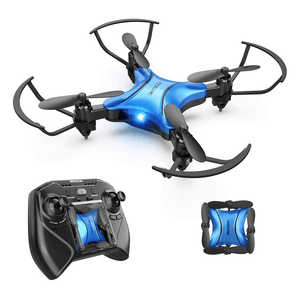 DROCON DC-65 Foldable Mini RC Drone for Kids (Blue)
