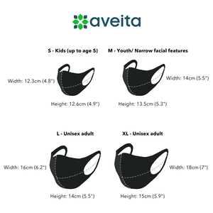 Aveita Hong Kong Reusable Fabric Face Mask Black