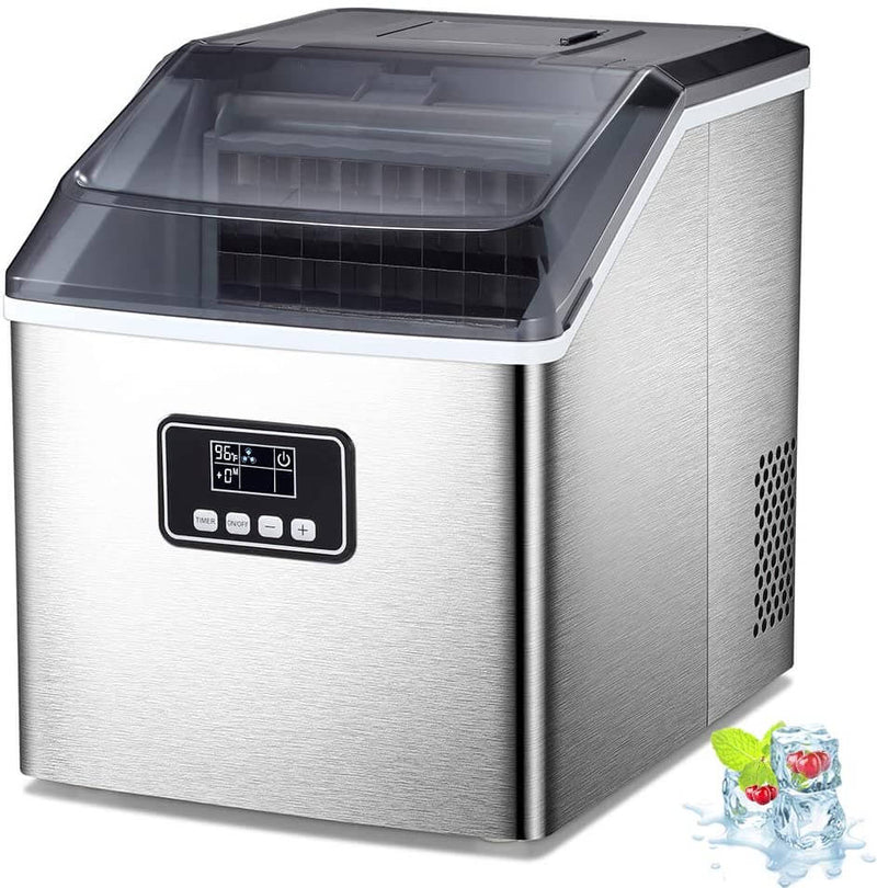 AG 40lbs ice maker-silver
