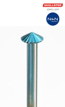 Load the picture into the gallery viewer, H (f) 120 ° MAILLEFER tool steel milling cutter double cone