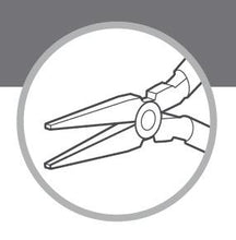 Load the picture into the gallery viewer, ANTILOPE® flat nose pliers with 2 springs without cut 120mm