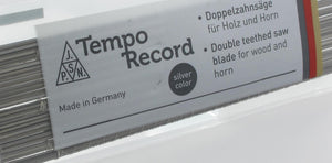 TEMPO RECORD wood saw blades, silver