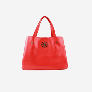Red Solid Handheld Bag