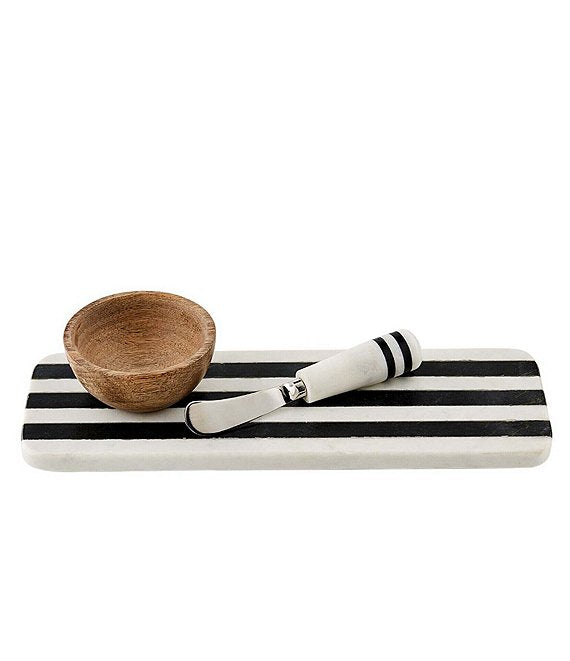 Black and White Marble Board Set