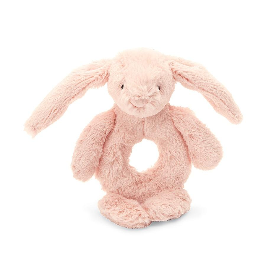 Bashful Bunny Ring Rattle, Blush