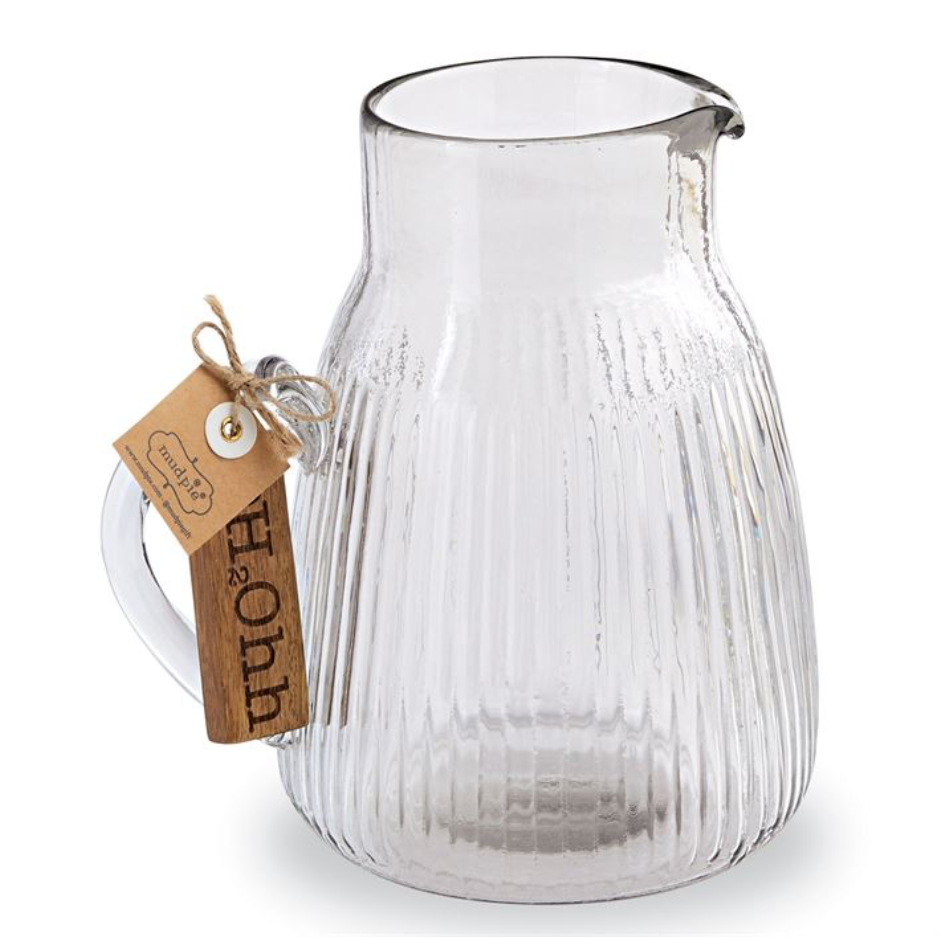 H20 Glass Pitcher