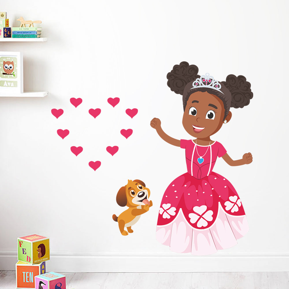 Princess Zara and Ziggy Wall Decal - Create Representation, inc.