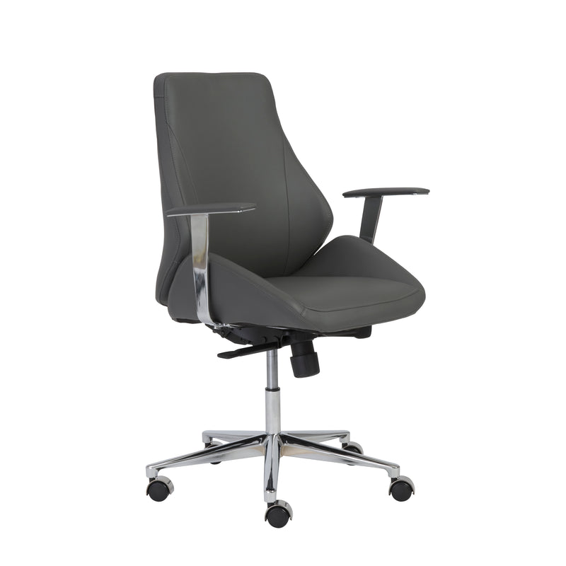 Bergen Low Back Office Chair Gray & Chrome