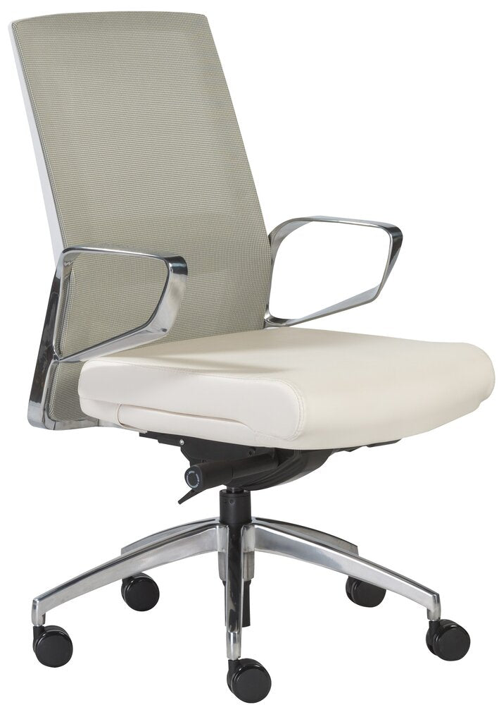 Alpha Office Chair White & Light Green