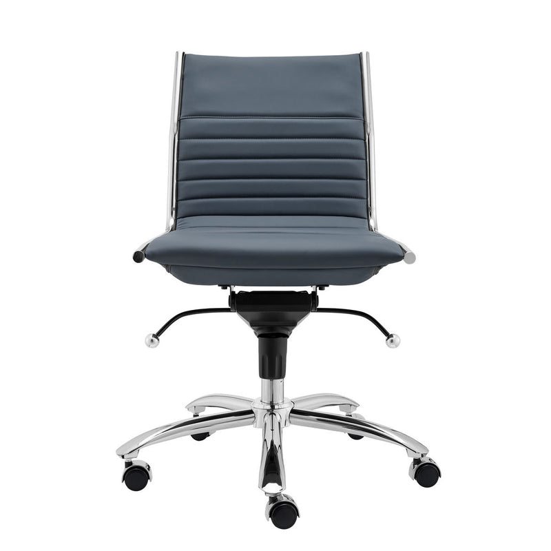 Dirk Low Back Office Chair Blue & Chrome