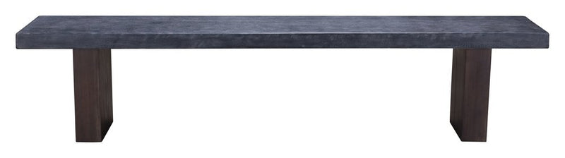 Windsor Bench Gray & Natural