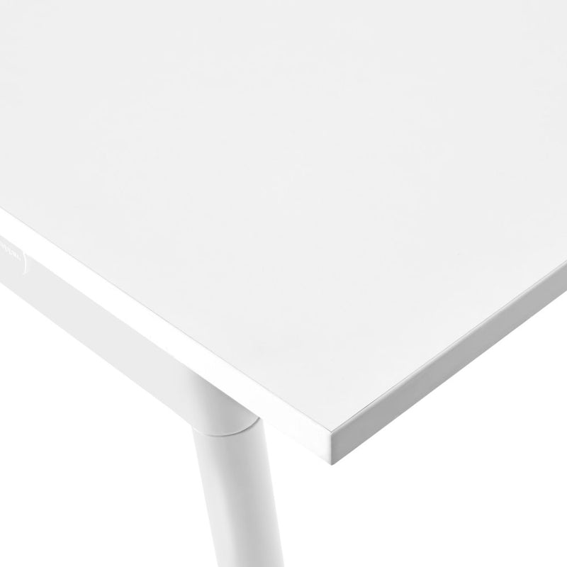 "144"" x 36"" White Conference Table"
