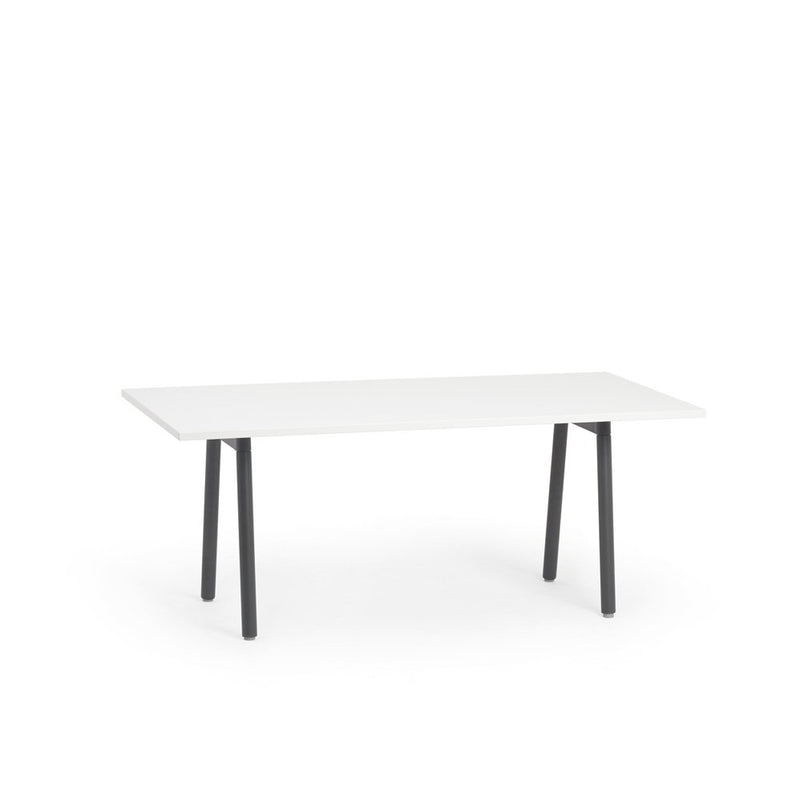 "72""x36"" White Conference Table"
