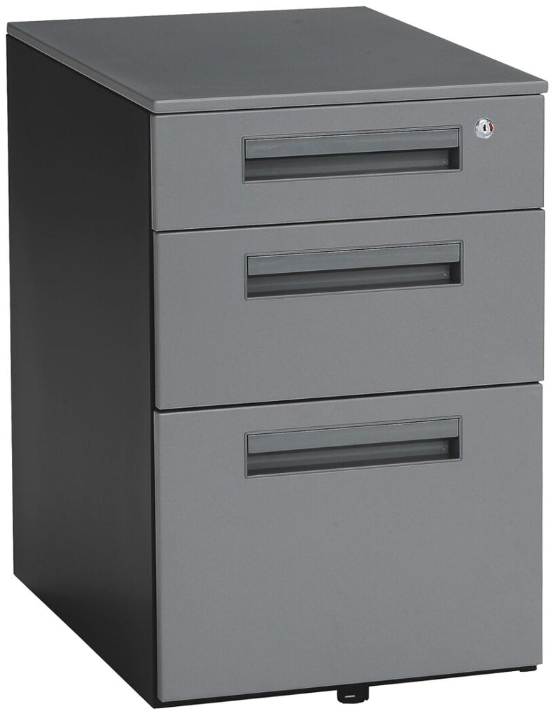 Mesa Wheeled Mobile File Cabinet Gray