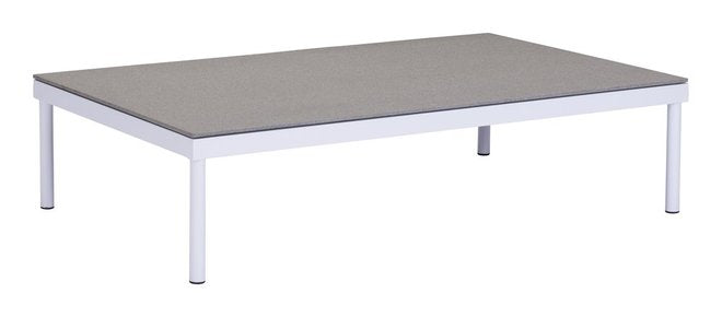 Maya Beach Coffee Table White & Granite