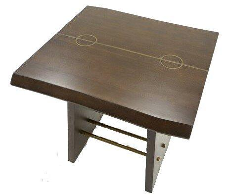 Modrest Selena End Table Dark Mango And Brass