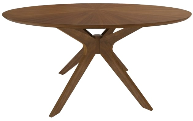 "Modern 47"" Round Dining Table Walnut"