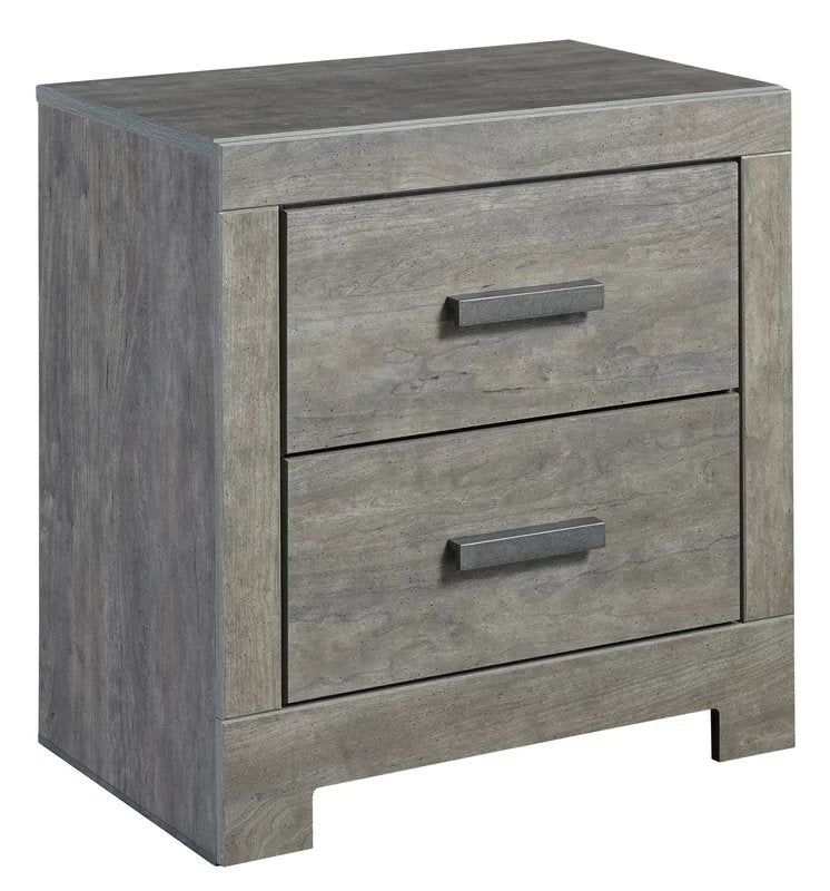 Curator 2 Drawer Nightstand Gray