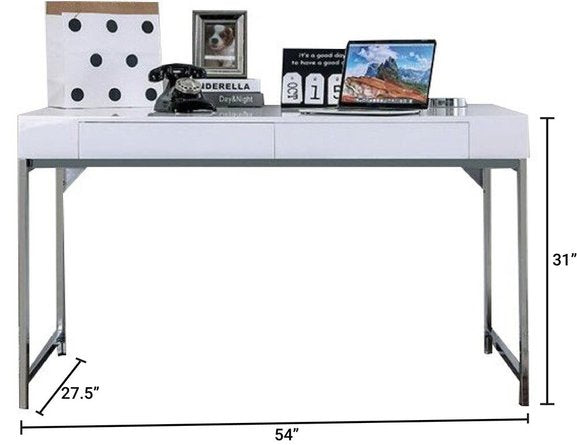 Loke Desk White And Chrome