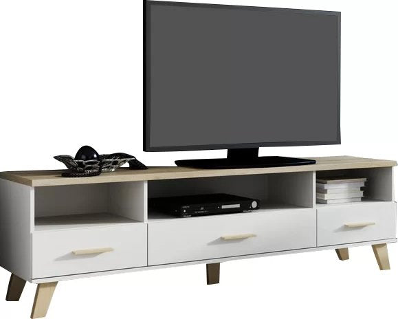 "Paral TV Stand for TVs up to 70"" White And Beige"