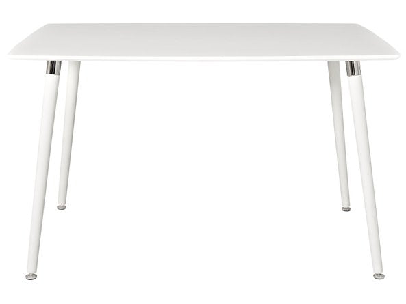 Lode Rectangle Wood Dining Table White