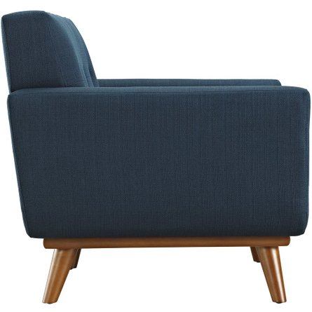Engage Upholstered Fabric Armchair Azure