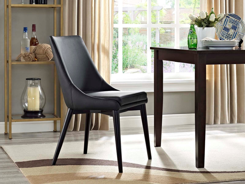 Viscount Vinyl Dining Chair Black