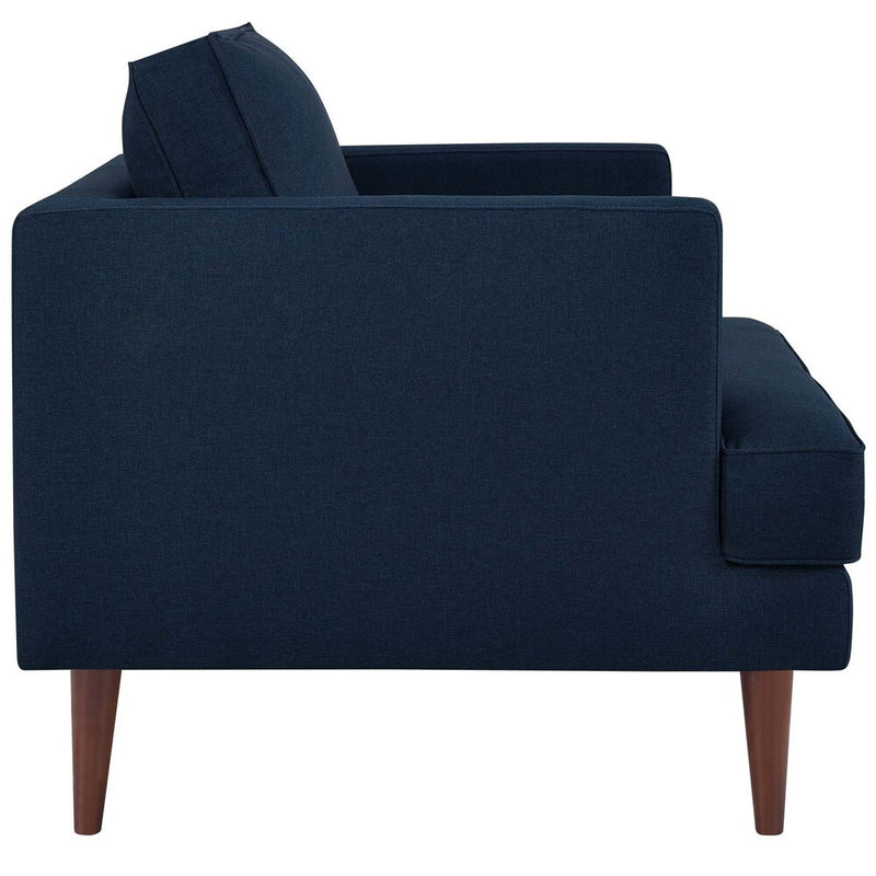 Agile Upholstered Fabric Armchair Blue